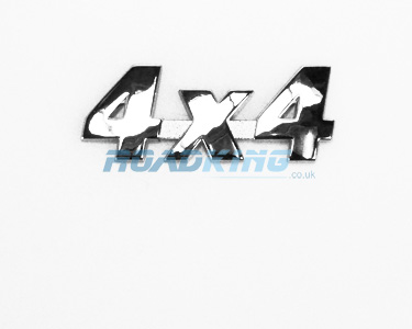 4x4 Chrome Badge | 8.5cm