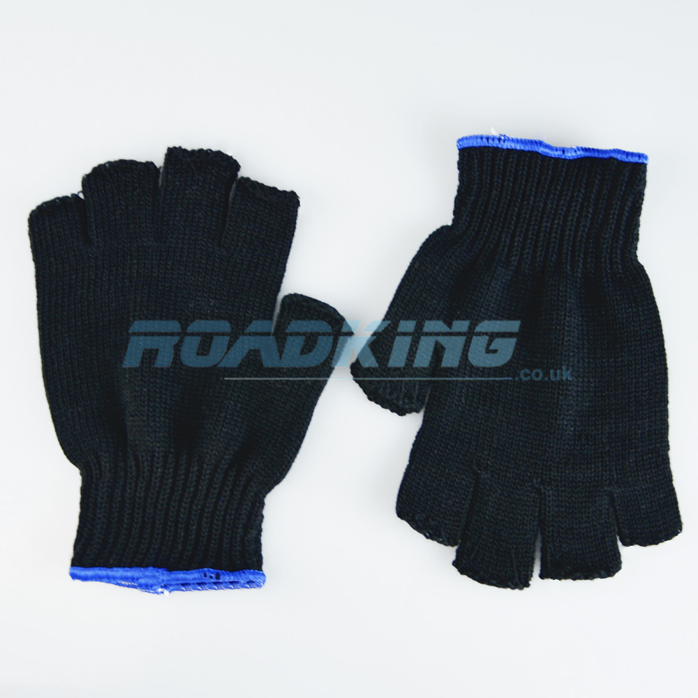 Fingerless Knitted Gloves | Black
