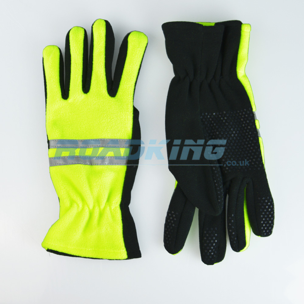 3M Scotchlite Hi-Viz Fleece Gloves | Gripper
