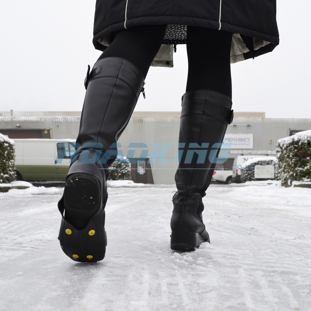 Ice Shoe Grips | Snow Spikes for Boots | UK 3 - 6