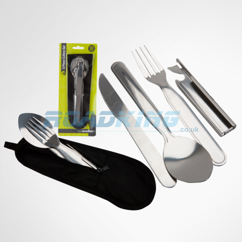 Lightweight Cutlery Set with Pouch | 5 in 1