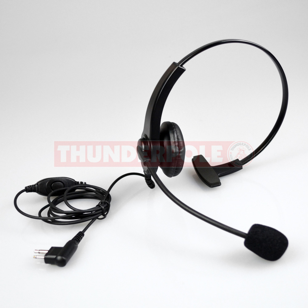 Light Weight Headset & Boom Mic for Single Pin Motorola & Cobra Radios