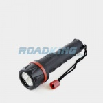 2 x AA Cell Rubber 3xLED Torch | 15cm