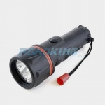 2 x D Cell 3xLED Rubber Torch | 25cm