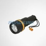 2 x AA Rubber LED Torch