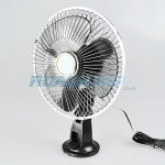 12v Cooling Fan - 6 Inch Oscillating with Suction Cup