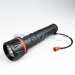 3 x D Cell Rubber LED Torch | 30cm