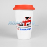 Ceramic Double Walled Mug with Lid | Cool Britannia