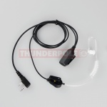 Acoustic Earpiece / Microphone for 2 Pin Kenwood Radios
