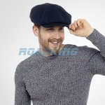 Mens Wool Blend Baker Boy Flat Cap