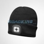 Beanie Hat With Head Torch | Black