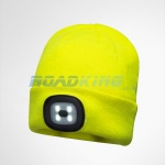 Beanie Hat With Head Torch | Yellow