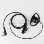 D-Shape Earpiece / Microphone for 2 Pin Kenwood Radios