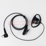 D-Shape Earpiece / Microphone for 2 Pin Motorola Radios