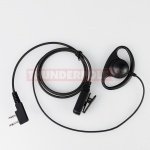 D-Shape Earpiece / Microphone for 2 Pin Icom, Midland  Radios