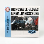 Disposable Gloves | Clear Plastic for Motorists | 100  Pcs