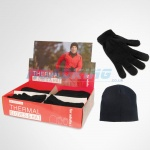 Thermal Hat & Gloves Display Unit | Black | 18 Pcs