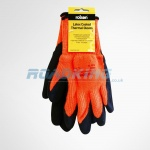 Latex Coated Thermal Gloves with Insulated Lining | Large  7 | Orange