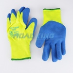 Hi-Viz Acetherm Latex Knit Gloves | Fleece Lined