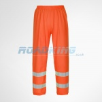 Hi-Viz Breathable Trousers - Orange