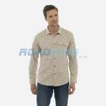 7 Mens Brown/Blue Tattersall Shirt  | Assorted Sizes